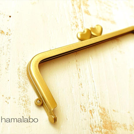 9月19日販売開始!【HA-1924】ハート口金 16.5cm/角型(アンティークゴールド)
