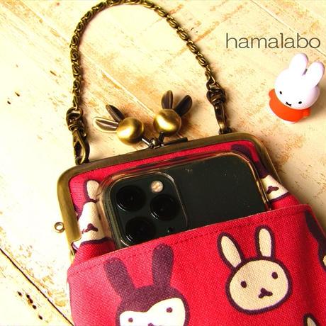 10月20日販売開始!【HA-1755】10cm/角型(ウサギ玉×ネコ玉)・アンティークゴールド・カン付き