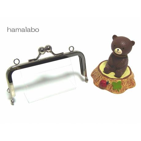 【HA-1403】ミニアメ玉10cm/角型口金(シルバー)・カン付き