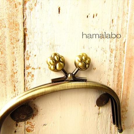 7月19日販売開始!【HA-1874】12.5cmくし型(足長)/(肉球×アンティークゴールド)