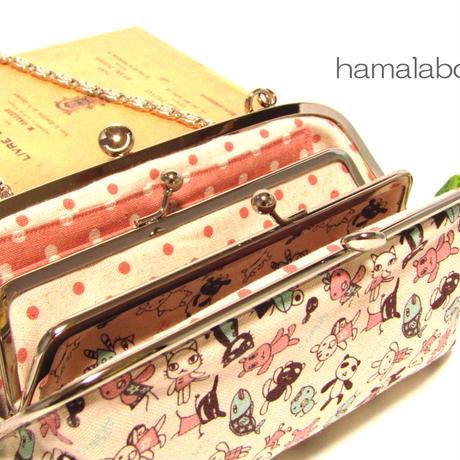 4月25日販売開始!【KT-2010】親子がま口の長財布の型紙&レシピ【19cm用】