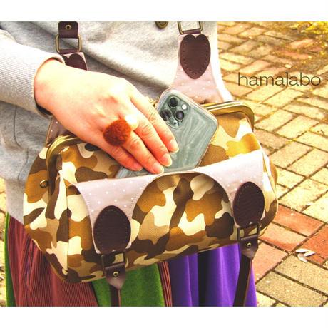 1月4日販売開始!【KT-2069】がま口俵型あおりバッグの型紙&レシピ【24cm/角型用】