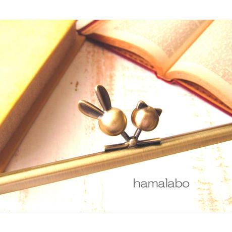 3月18日販売開始!【HA-1742】17.7cm角型(ウサギ玉×ネコ玉×アンティークゴールド)