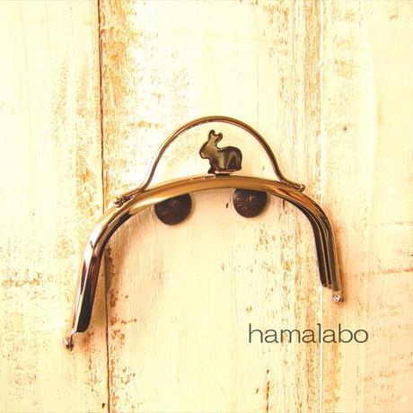 7月19日販売開始!限定販売!【HA-1885】12.5cmくし型(足長)/(ウサギ押し口金×シルバー)
