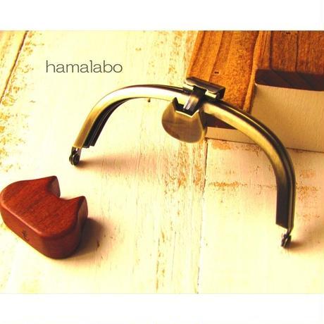 8月1日販売開始!【HA-1569】オコシ式口金10cm/くし型(ネコ×アンティークゴールド)