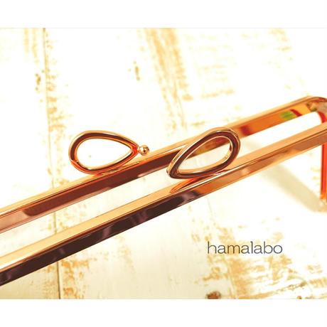 9月19日販売開始!初回特価!【HA-1935】24cm角型口金(新リボン×ローズゴールド-ピンクゴールド)+(プラス)