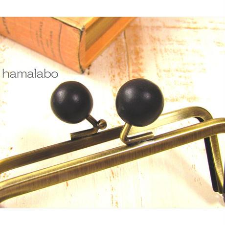 10月1日販売開始!【HA-1940】12cm/角型(ちょっと大きな黒色の木玉×アンティーク)