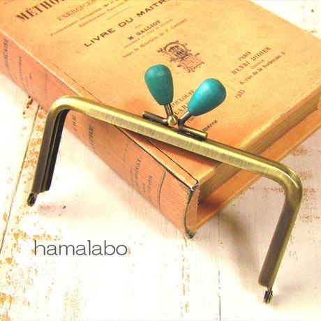 10月1日販売開始!【HA-1941】12cm/角型(紺色の木オーバル×アンティーク)