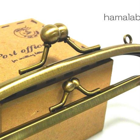 【HA-154】親子口金 14.5cm(ミニアメ玉×ノーマル)・カン付き