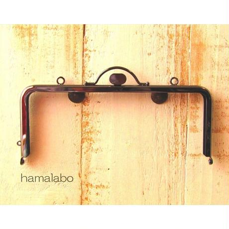 7月4日販売開始!【HA-1615】持ち手付きの押し口金18cm/角型(ブラック・カン付き
