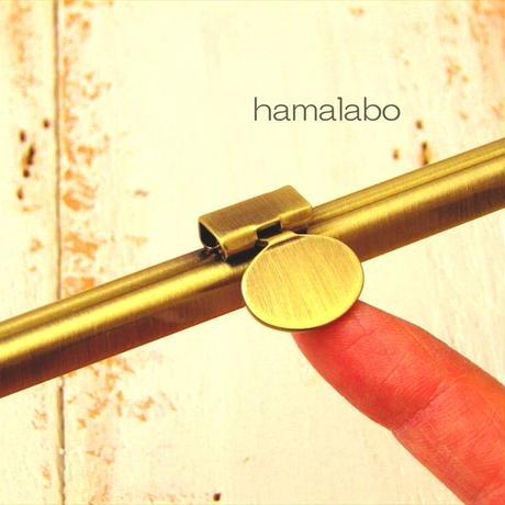 3月18日販売開始!【HA-1784】オコシ式 12cm浮き足口金(丸型金具×アンティークゴールド)