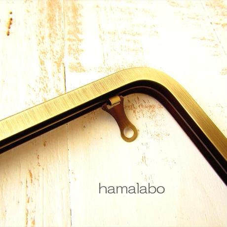 5月18日販売開始!【HA-1830】27cm角型 兼用カン口金(大きな茶色の木玉×アンティークゴールド)+(プラス)