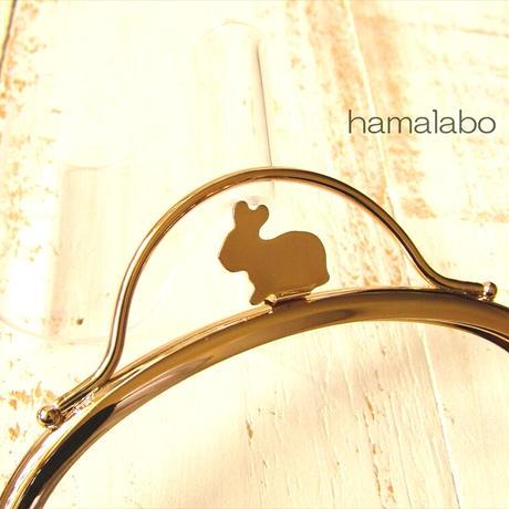 7月19日販売開始!限定販売!【HA-1884】12.5cmくし型(足長)/(ウサギ押し口金×ゴールド)