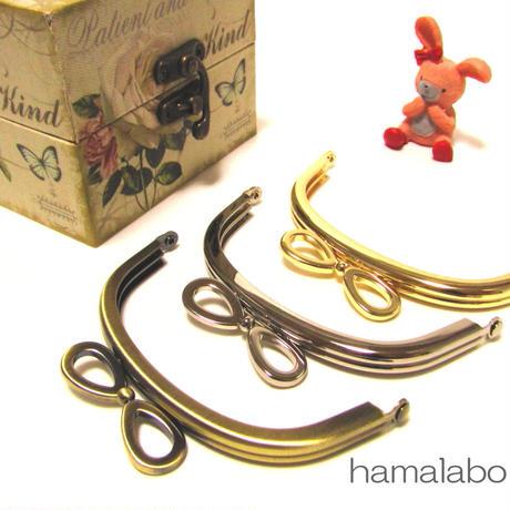 【HA-378】リボン口金/10cmくし型(アンティークゴールド)