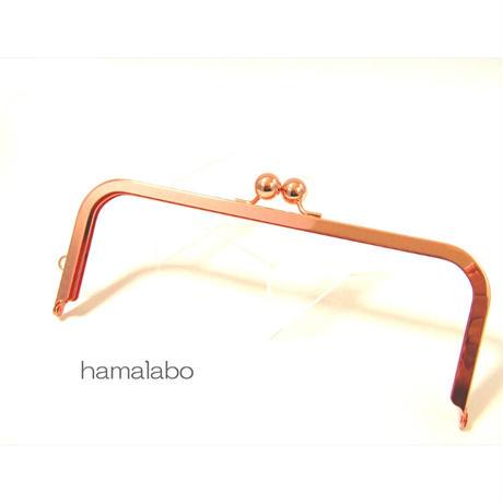 8月20日販売開始!【HA-1910】24cm大玉口金/角型/ローズゴールド-ピンクゴールド/+(プラス)