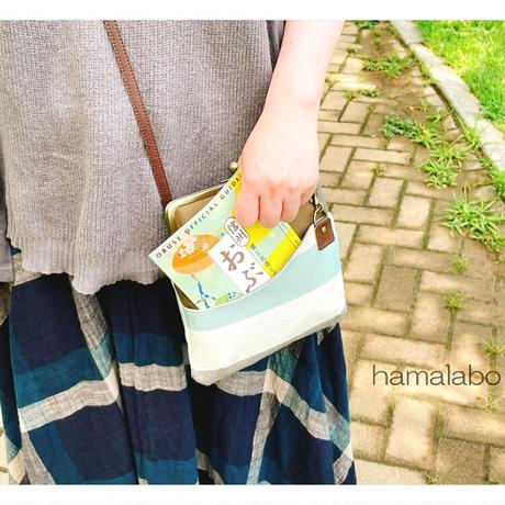 10月19日販売開始!【KT-2094】ペッタンコ版!がま口ポケットショルダーバッグ(ミニ)の型紙&レシピ【18cm/角型用】