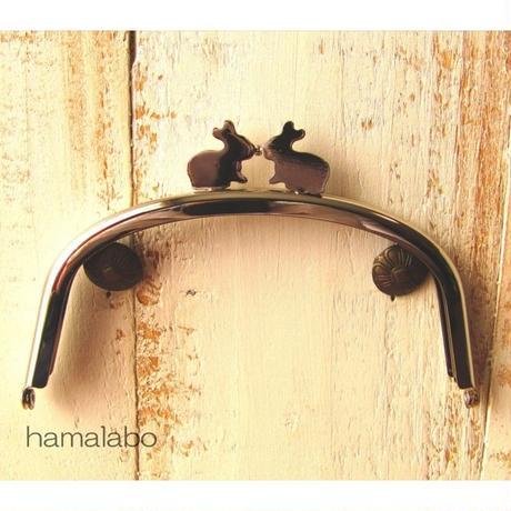 9月11日販売開始!【HA-1654】12.5cm/くし型(ペアウサギ×シルバー)