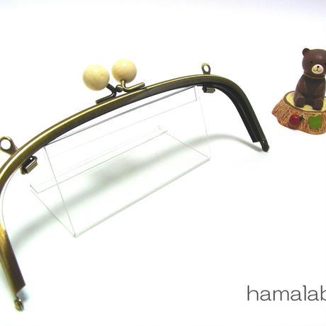 【HA-1269】20.4cm/くし型(白玉×アンティークゴールド)・兼用カン付き