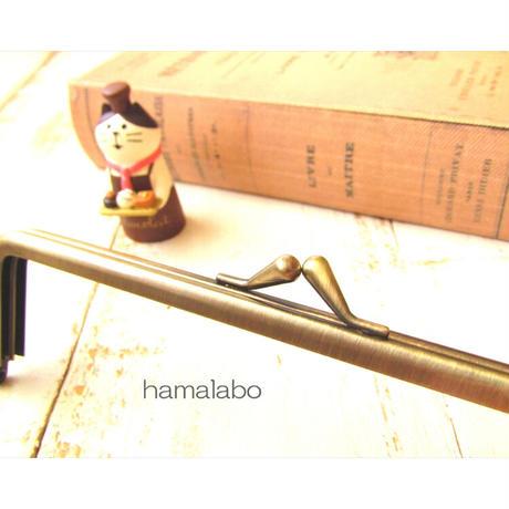6月1日販売開始!【HA-1847】16.5cm口金/(バットつまみ×アンティークゴールド)