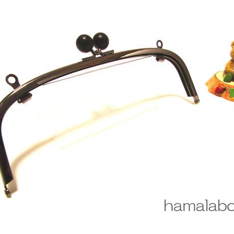 【HA-335】20.4cm/くし型(黒色の木玉×ブラック)・兼用カン付き