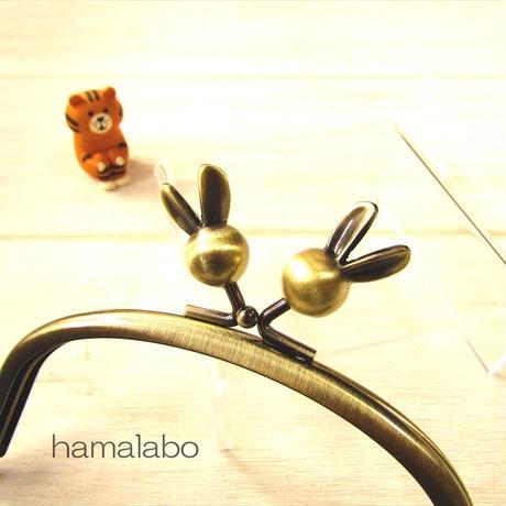 7月19日販売開始!【HA-1877】12.5cmくし型(足長)/(ウサギ玉×アンティークゴールド)