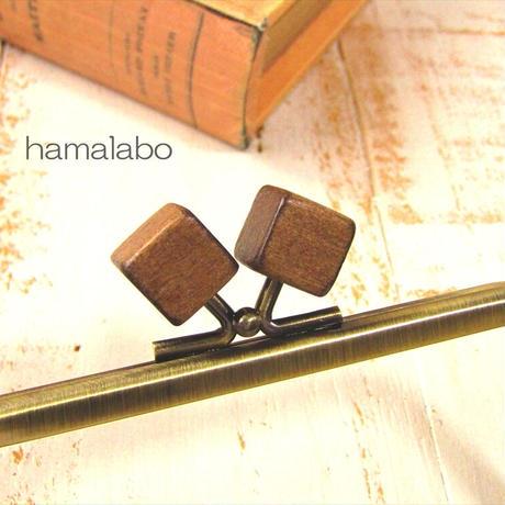 10月1日販売開始!【HA-2014】12cm/角型(茶色の木キューブ×アンティーク)