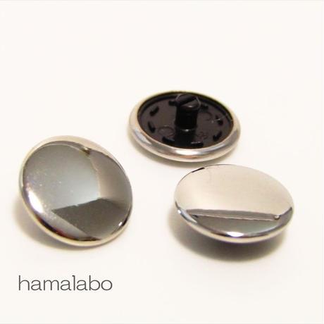 【HA-587】スナップボタン メタリック(シルバー)
