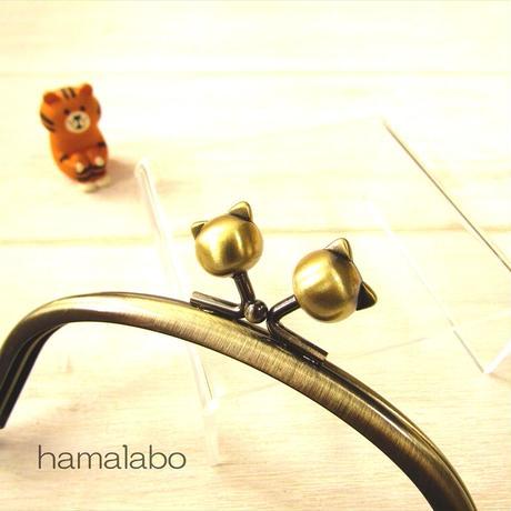 7月19日販売開始!【HA-1875】12.5cmくし型(足長)/(ネコ玉×アンティークゴールド)