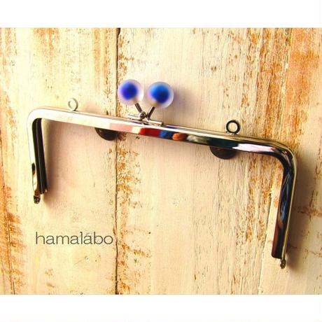 8月26日販売開始!【HA-1638】18cm/角型(スモーク玉ブルー×シルバー)・カン付き