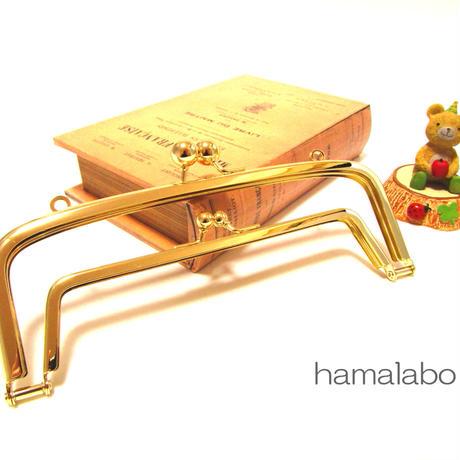 【HA-346】<廉価版>親子口金 19cm(アメ玉×ゴールド)・カン付き
