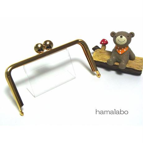 【HA-1395】12cm/角型口金(ゴールド)-碁石つまみ-