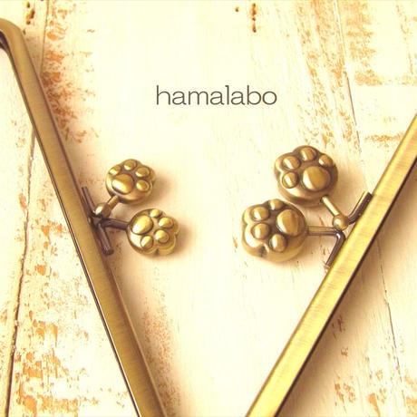 5月1日販売開始!大特価!【HA-1754】18cm/角型(大きな肉球×アンティークゴールド)