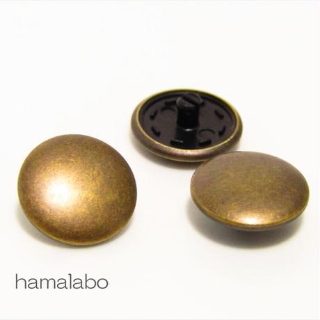 【HA-589】スナップボタン メタリック(アンティークゴールド)