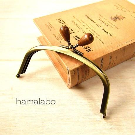 7月19日販売開始!【HA-1873】12.5cmくし型(足長)/(茶色の木オーバル×アンティークゴールド)