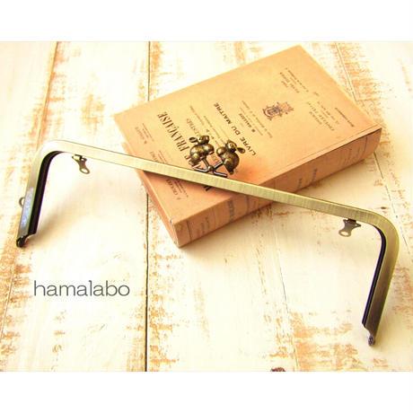 5月18日販売開始!【HA-1835】27cm角型 兼用カン口金(うさぎ×アンティークゴールド)+(プラス)