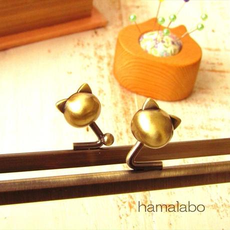 12月21日販売開始!【HA-1751】18cm/角型(ネコ玉×アンティークゴールド)