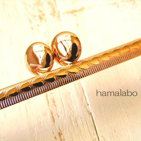 5月1日販売開始!【HA-1838】ハート柄フレーム口金/16.5cm/角型(碁石×ゴールド)