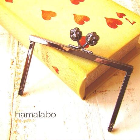 11月19日販売開始!【HA-1760】12cm浮き足口金/肉球(ブラック)