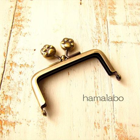 9月19日販売開始!【HA-1896】7.5cm/角型口金(肉球×アンティークゴールド)