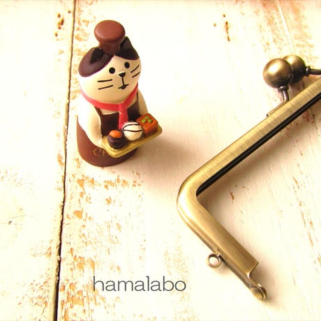 6月1日販売開始!【HA-1846】16.5cm口金/(アメ玉×アンティークゴールド)