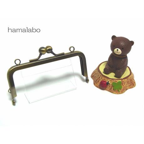 【HA-1405】ミニアメ玉10cm/角型口金(アンティークゴールド)・カン付き