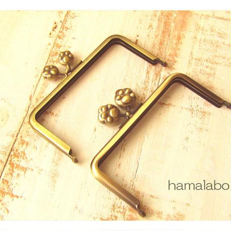 11月19日販売開始!【HA-1756】12cm/角型(大きな肉球×アンティークゴールド)-通常品-
