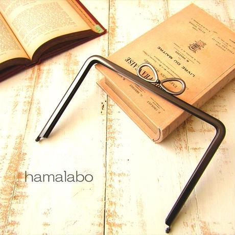 7月19日販売開始!【HA-1863】17.7cm角型口金/(新リボン×ソフトブラック)