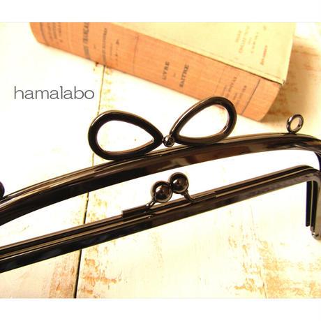 5月18日販売開始!初回限定特価!【HA-1805】親子口金 20.4cm(新リボン×ブラック)・カン付き