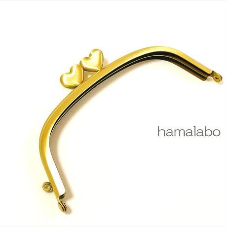 9月19日販売開始!【HA-1922】ハート口金12.5cm/くし型(アンティークゴールド)