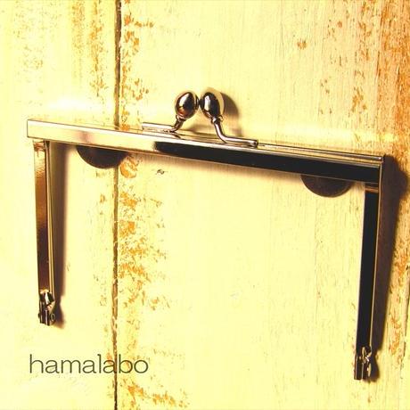 【HA-1495】12cm浮き足口金/ナツメ玉(シルバー)
