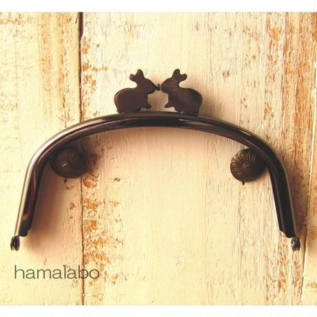 9月11日販売開始!【HA-1655】12.5cm/くし型(ペアウサギ×ブラック)