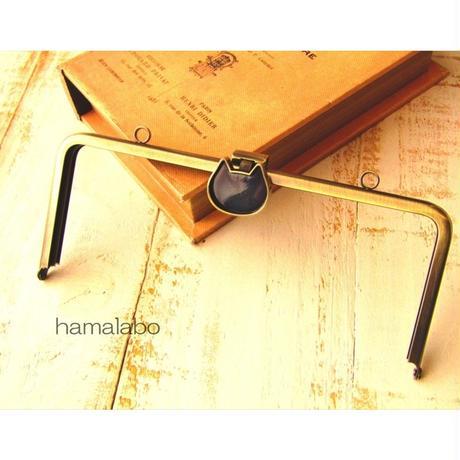 【HA-1680】<レジン用口金>オコシ式口金18cm/角型(ネコ×アンティークゴールド)カン付き