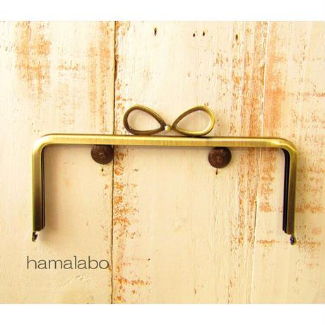 5月1日販売開始!【HA-1802】18cm/角型口金/(新リボン×アンティークゴールド)