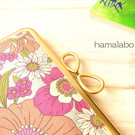 7月19日販売開始!【HA-1862】17.7cm角型口金/(新リボン×ソフトシルバー)